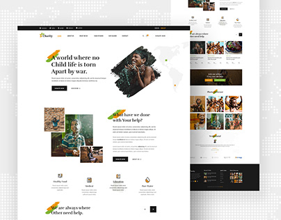 Charity and Donation PSD Template