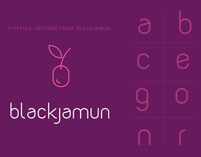 New Typeface Design: Blackjamun