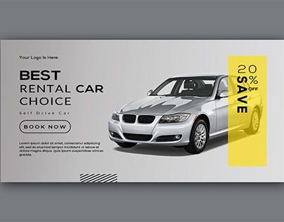 Rental Car Web Banner Design