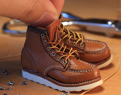 Mini handcraft leather boots