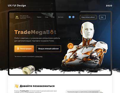 TradeMegaBot • Landing Page • UI/UX