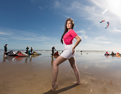 Summer Beach Shoot, Rest bay , South Wales Uk