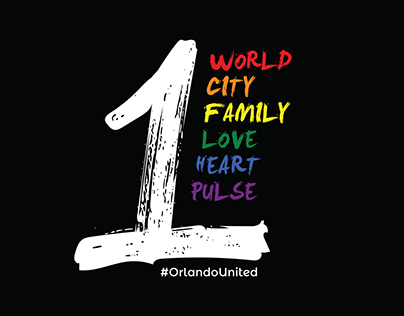 1Pulse Orlando t-shirt design