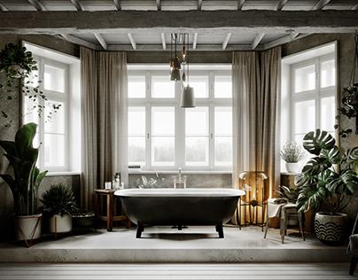 The Rustical Bathroom
