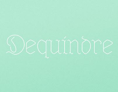 Dequindre Typeface