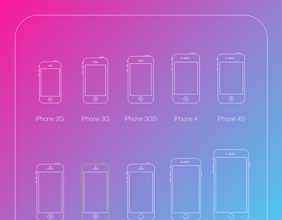 All iPhones in vector outlines free download