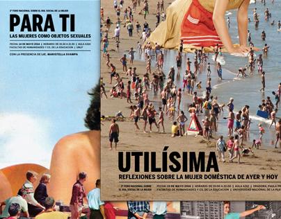 Afiches - Foro sobre el rol social de la mujer