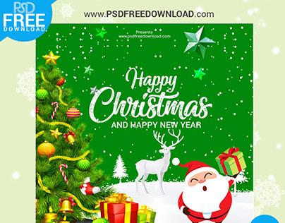Christmas Banner Design Free PSD