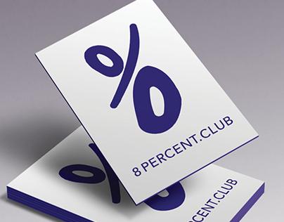 Logo design 8 percent club