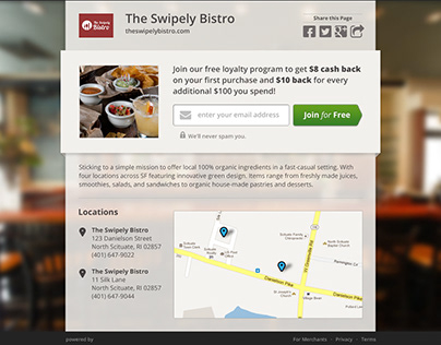UX & Infographics for Swipely (2012)