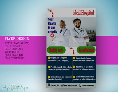 Hospital Flyer Design.
