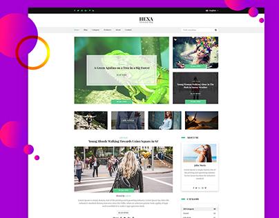 HEXA- Personal Blog PSD Template