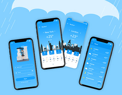 Weather Mobile App UI