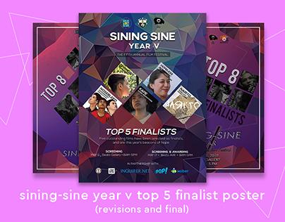 Sining Sine Year V Top 5 Finalist Poster