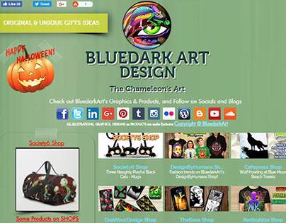BlueDarkArt Design - The Chameleon's Art - Website