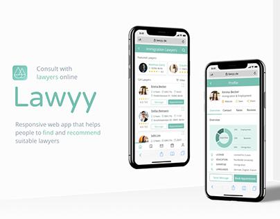 Lawyy - A Legal Advice App (UX/UI Case Study)