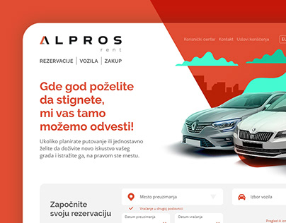Alpros Rent website redesign