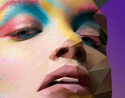"Polygonal Art - ""Makeup"""