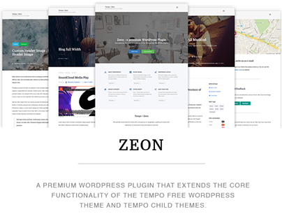 Tempo free WordPress Theme + Zeon WordPress Plugin