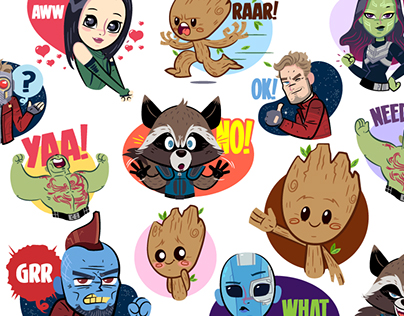 Guardians of the Galaxy Vol2: Facebook Stickers