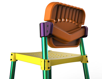 Plastic assembly chair Traverse