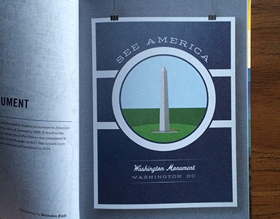 Washington Monument poster — See America book