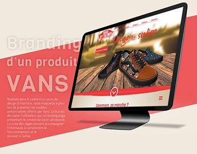 Maquette Web de branding pour un produit