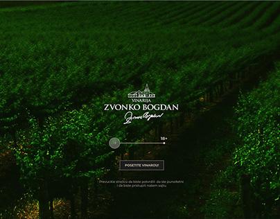 Website winery Zvonko Bogdan design my version