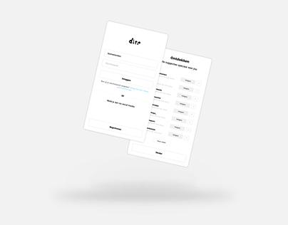 APP UI | DITE SOCIETY