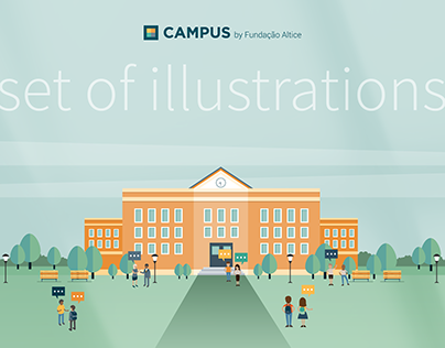 Set of illustrations for CAMPUS