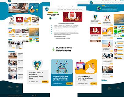 Revista Mi Dinero - Custom Wordpress Website