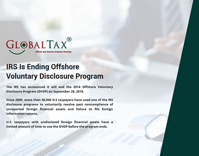 Landing page (IRS globaltax)