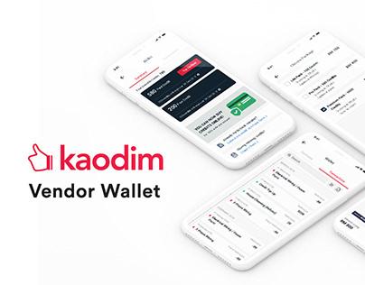 Kaodim Vendor Wallet
