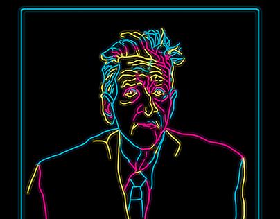Neon Lynch / Portrait illustration / T shirt design