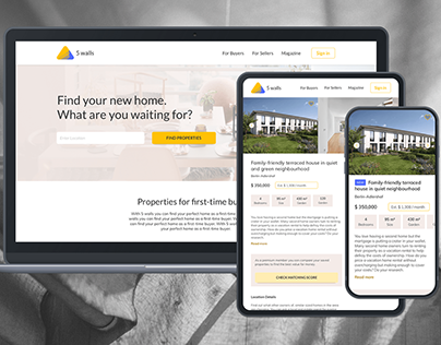 Responsive Web-App for first-time Property Buyers
