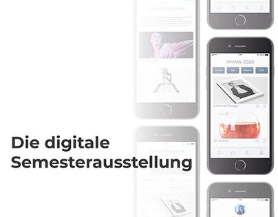 App Design: Digitale Semesterausstellung