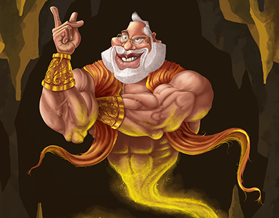 Digital Illustration - Narendra Modi