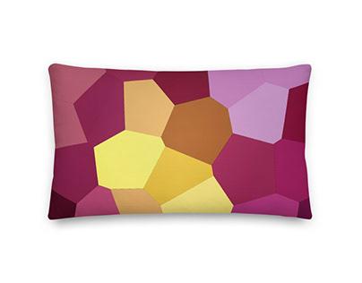 Macro Pink Peony Premium Pillow