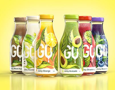 Fruit Juice Bottle Packaging Design
