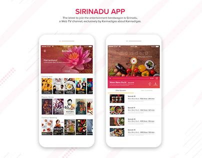 """SIRINADU"" Web TV application"