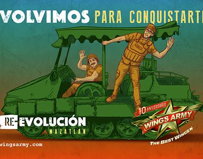 Re-evolución Wings Army Mazatlán
