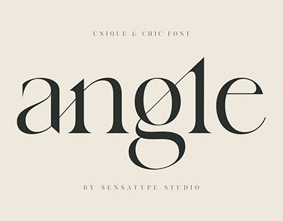 angle - unique & chic font