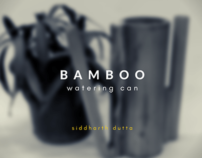 Bamboo watering can | Form exploration exercise