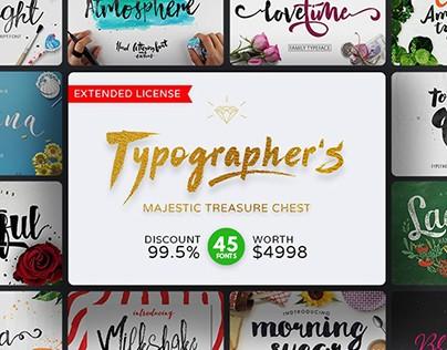 Typographer's Majestic Treasure Chest (45 Fonts)