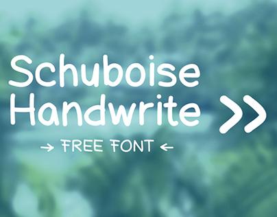 Free Font «Schuboise Handwrite»