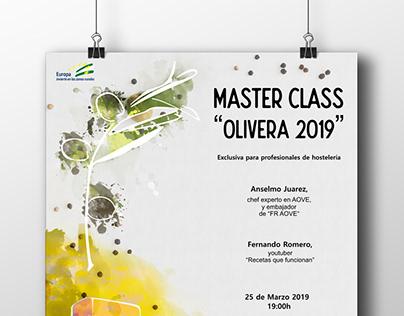Diseño cartel Masterclass Olivera 2019