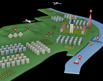 Mapa 3D - Fordon, Bydgoszcz