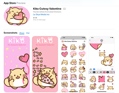 I M PAW:Kiko Cutesy Valentine IOS Animated Sticker Pack