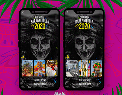 Proyecto UX-UI Carnaval de Barranquilla 2020