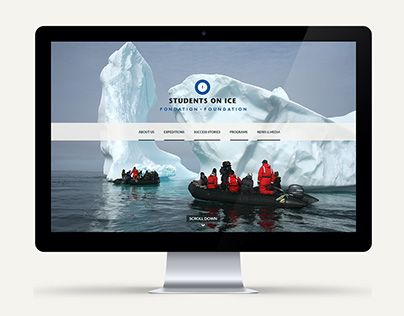 Student's on Ice Foundation Website Re-design